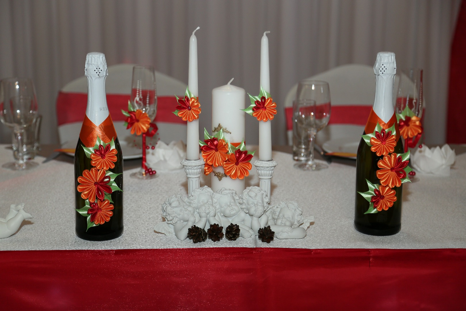 Оформление свадебных бокалов и бутылок своими руками, лепим, творим, малюем 94